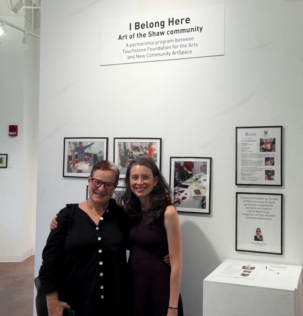 Ellyn Weiss, Board of Directors, Touchstone Foundation for the Arts and Rachel Dickerson, Founder and Director, New Community ArtSpace DC.