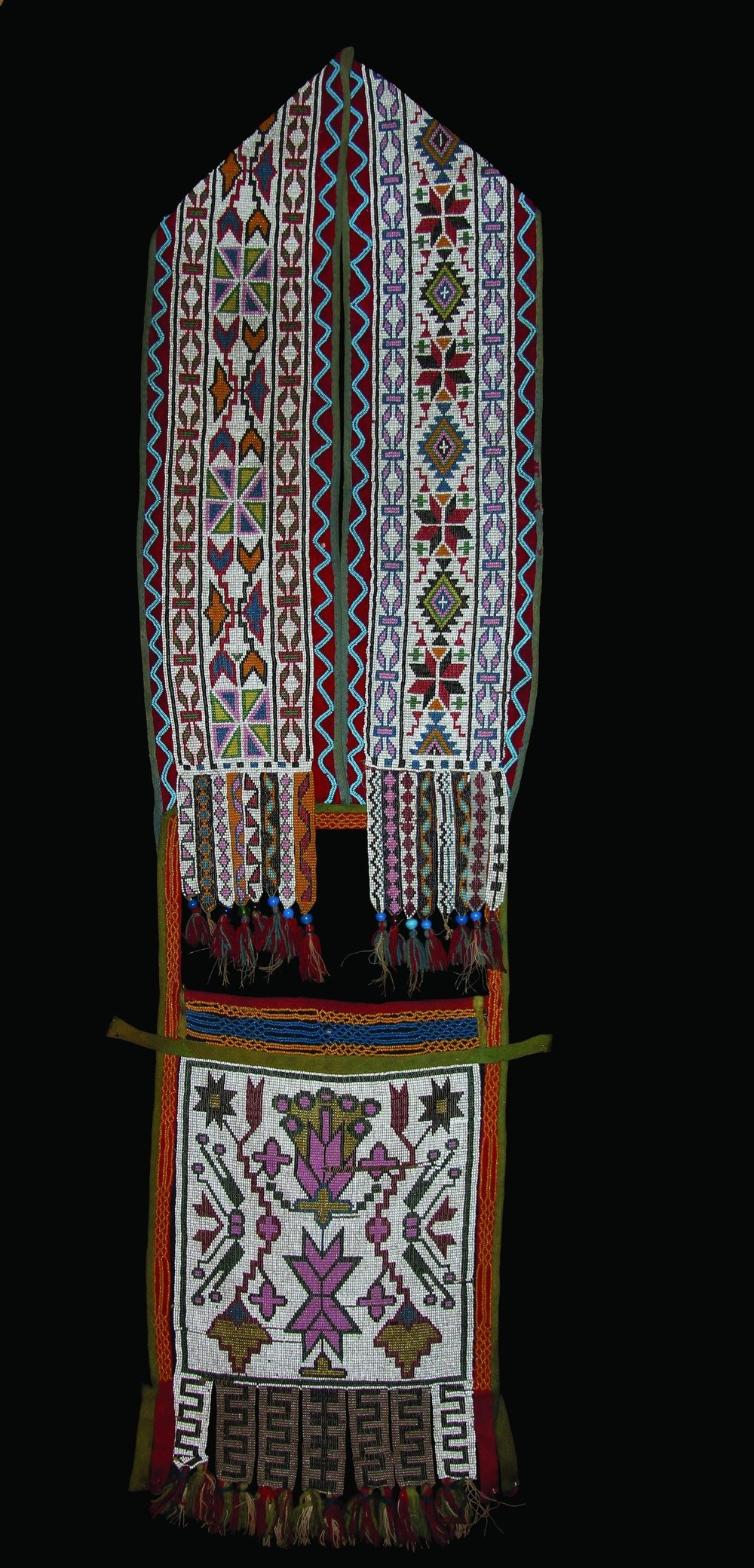 Beaded Bandolier Bag (ca. mid 1800s), from the Great Lakes region.
