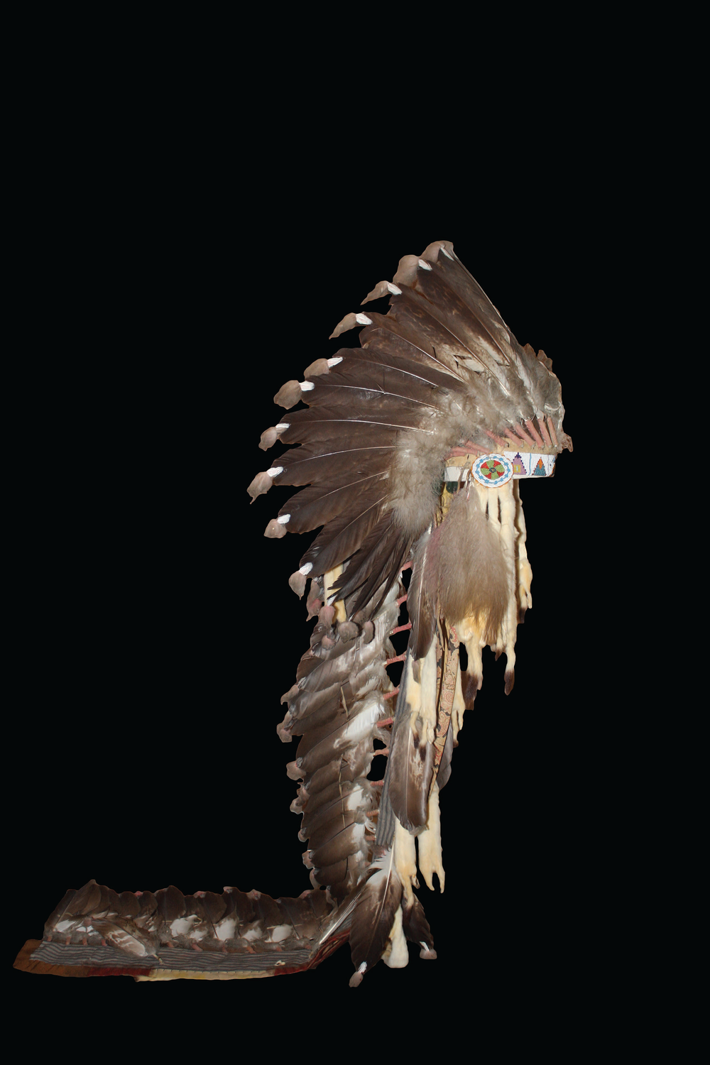 Blackfoot Headdress, ca. late 1800s. On loan from the University of Arkansas.