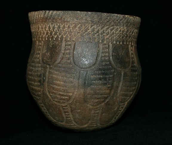 Havanna Zone Stamped Hopewell jar from Illinois.