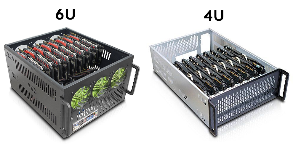 Server Solutions - 8xGPU - 6U (up to 3000W) and 4U (up to 1600W) configurations add flexibility in our custom chassis. Client-specific arrangements for even higher density and power are also available.
