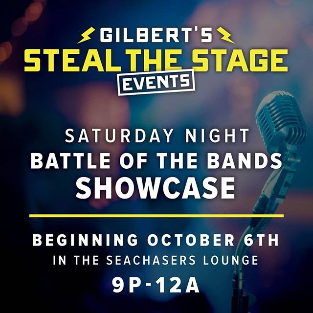 "We are so pumped to share the details for our upcoming ""Steal the Stage"" competitions. Check out cold hard cash prizes and come wow us with your talent! Come support budding musicians and soloists and be the person to say ""I saw them when!"" Competition begins Oct.5th in Seachasers Lounge! #karaoke #battleofthebands #neptunebeach #atlanticbeachfl #jaxbeach #jacksonvillemusicscene #unf #jacksonvilleuniversity #edwardwaterscollege #fscj"
