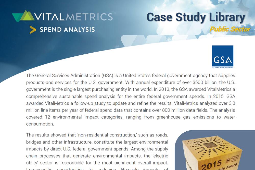 Sustainable Spend Analysis