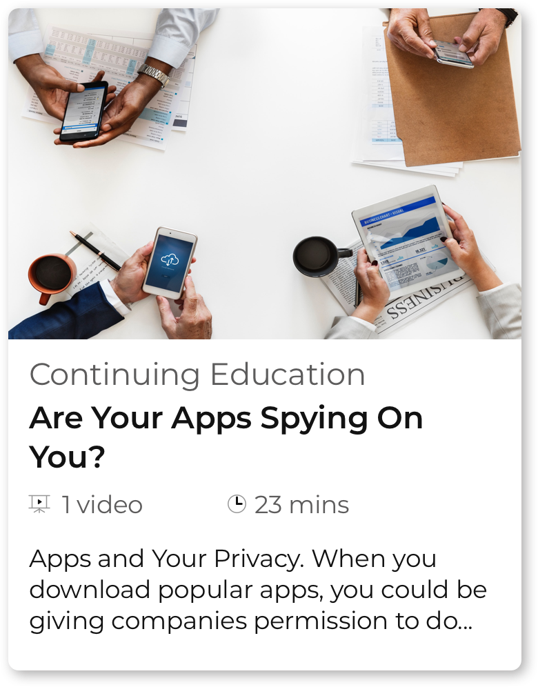 course card - apps spying