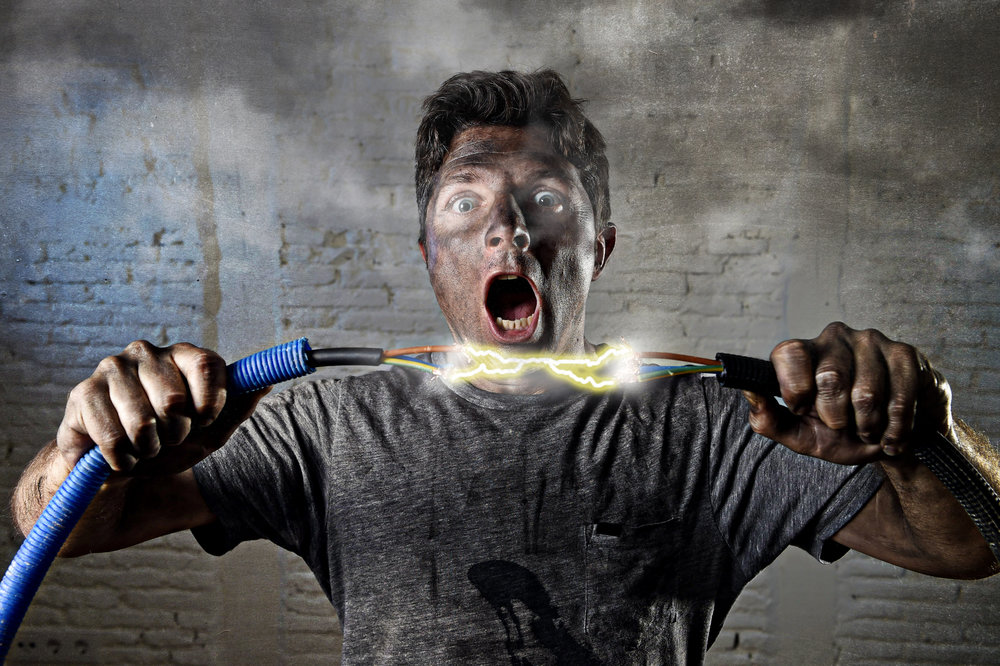 Start your day wrong? - Let Us Help...    Our licensed residential electricians are ready to repair your wiring. Over the years the electrical code has changed, so our trained electricians can bring your electrical system up to code and help you sleep safe and sound again!