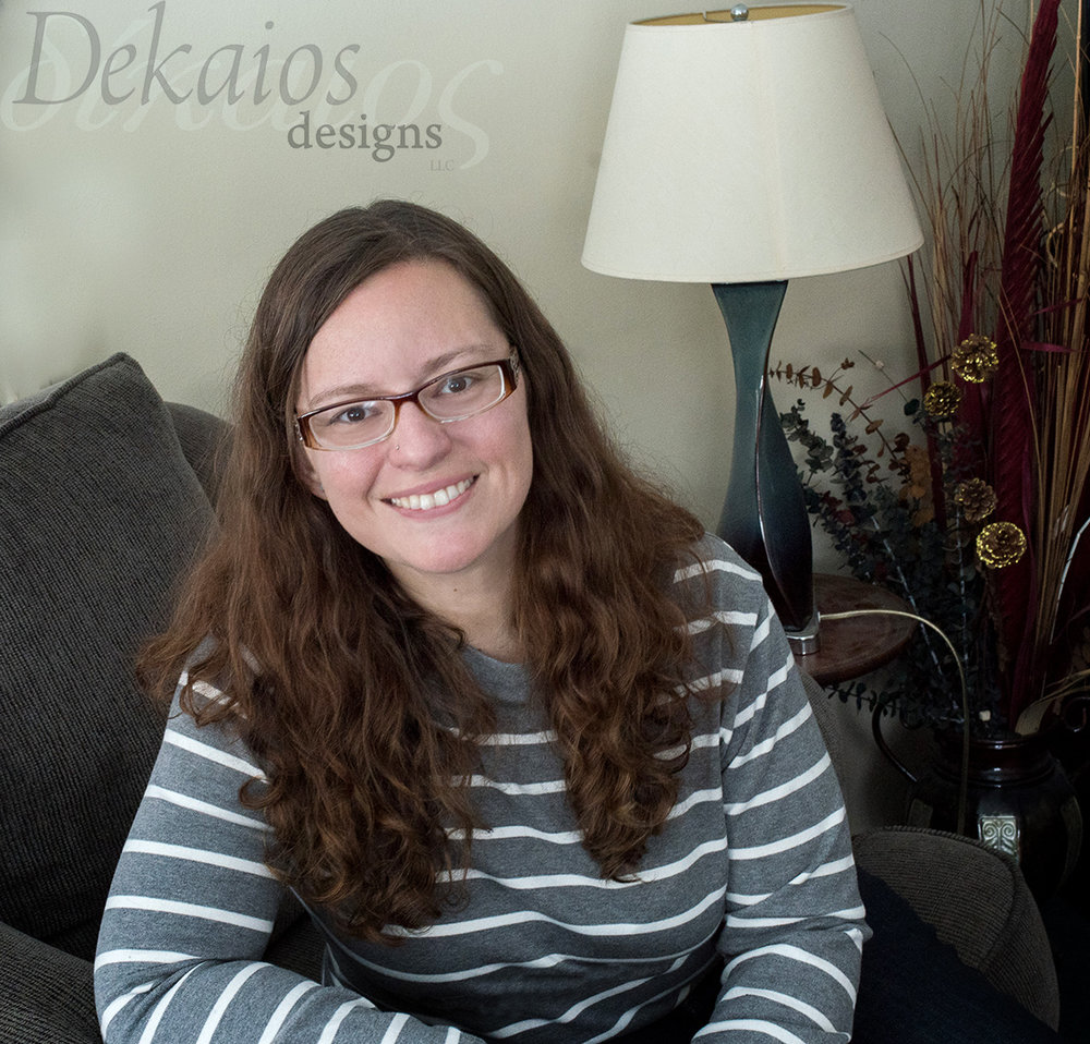 This is me, Rosalind-owner of Dekaios Designs LLC. This is a pretty accurate photo of me and how I will look at you when we meet in person.