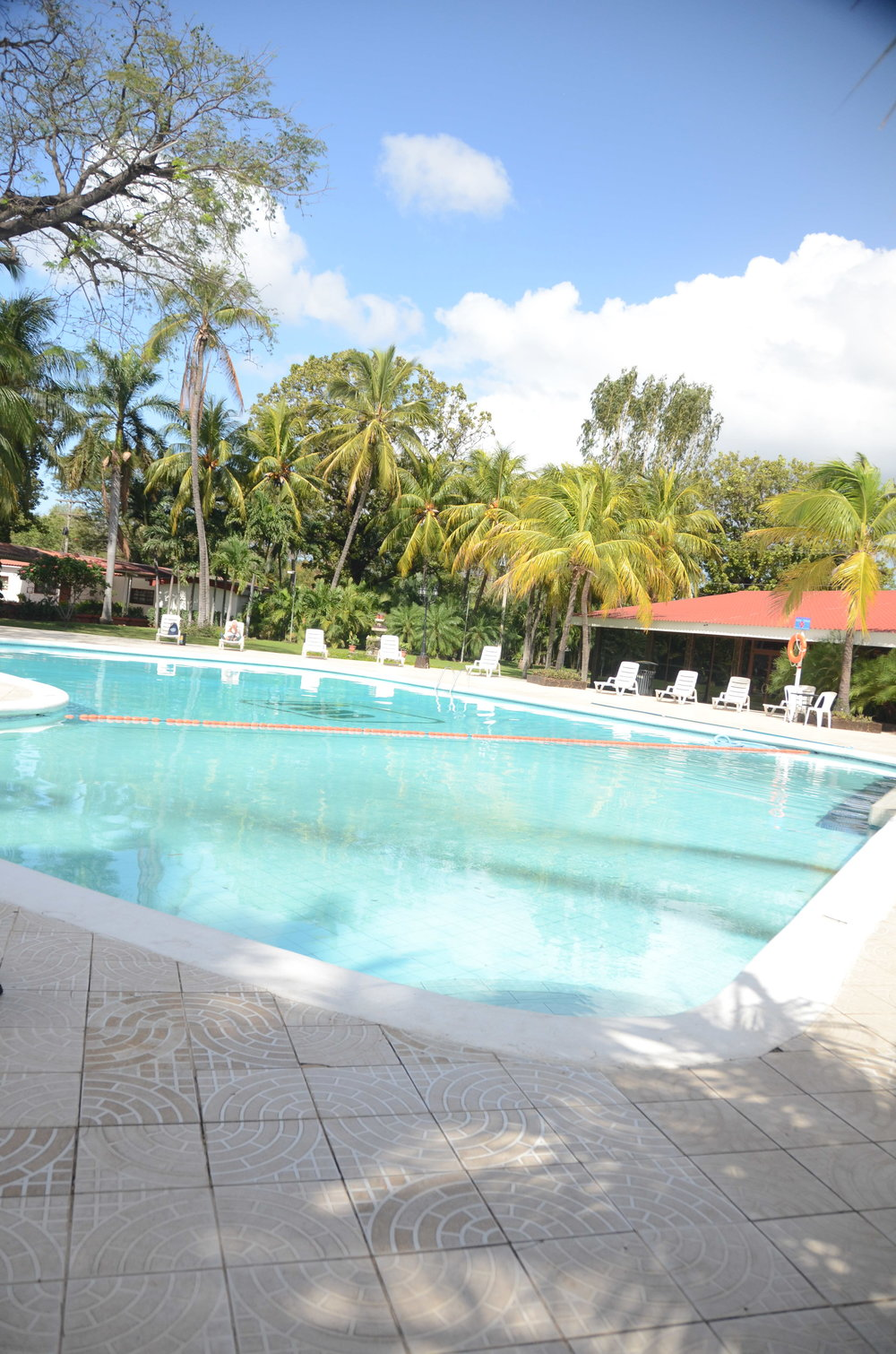 There are two pools in the hotel. This one is just so beautiful. I swam a little today, it was refreshing!