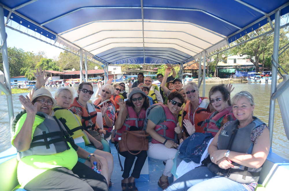 Group photo on the boat.
