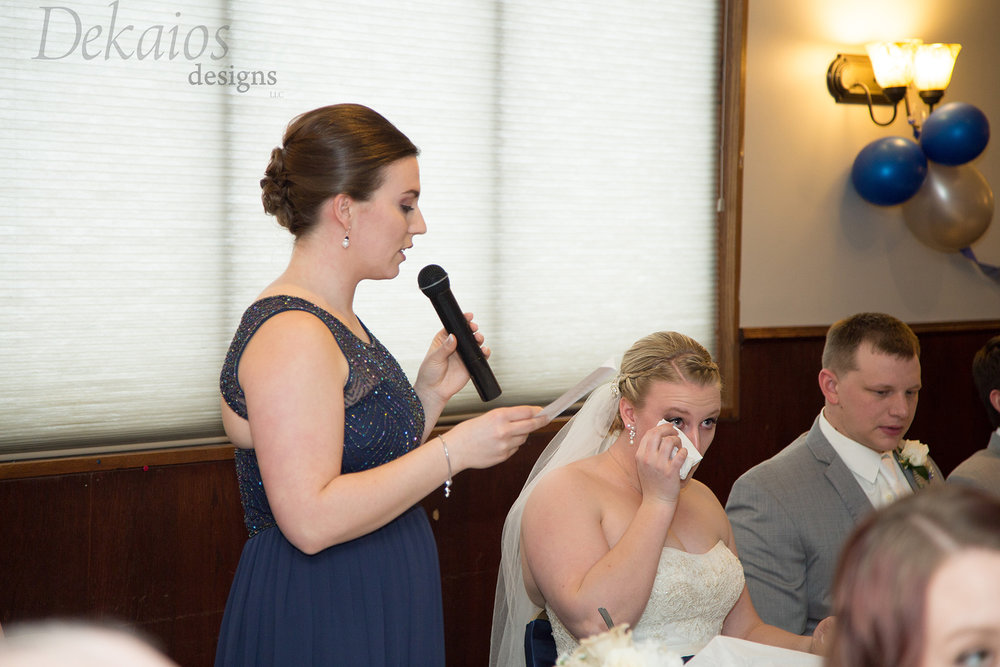 Sister of the bride with moving heartfelt words.