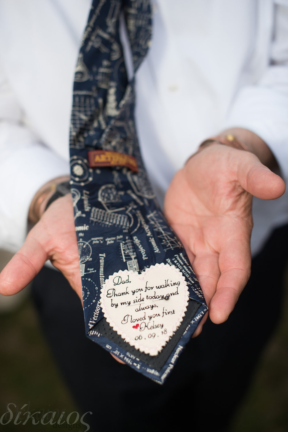Dad's tie had a sweet message from Kelsey