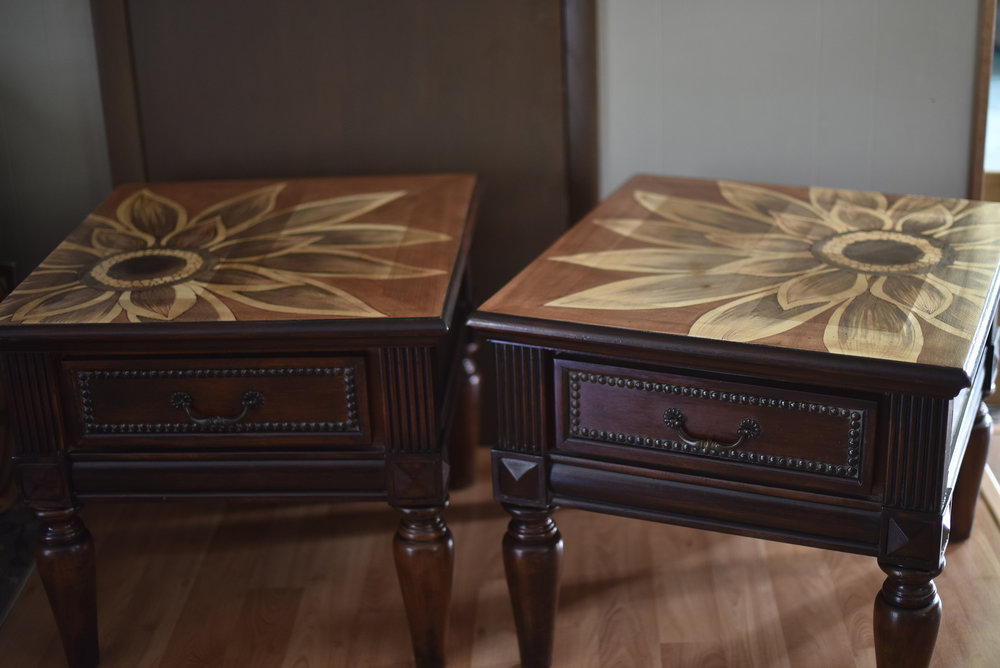 stain painted tables.