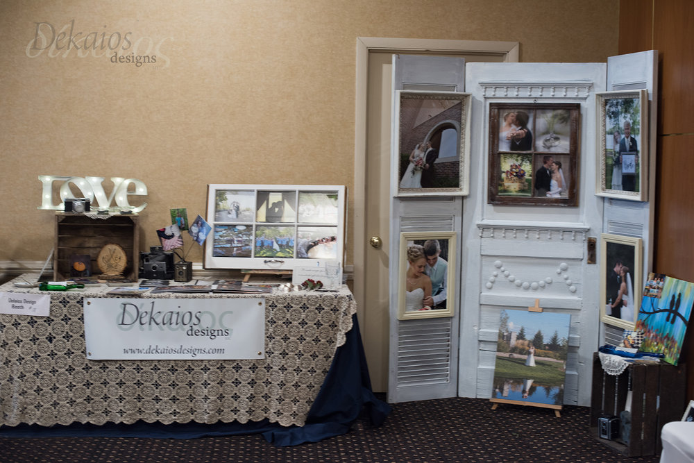 Our booth at the Creating Moments Bridal Expo in WI Rapids