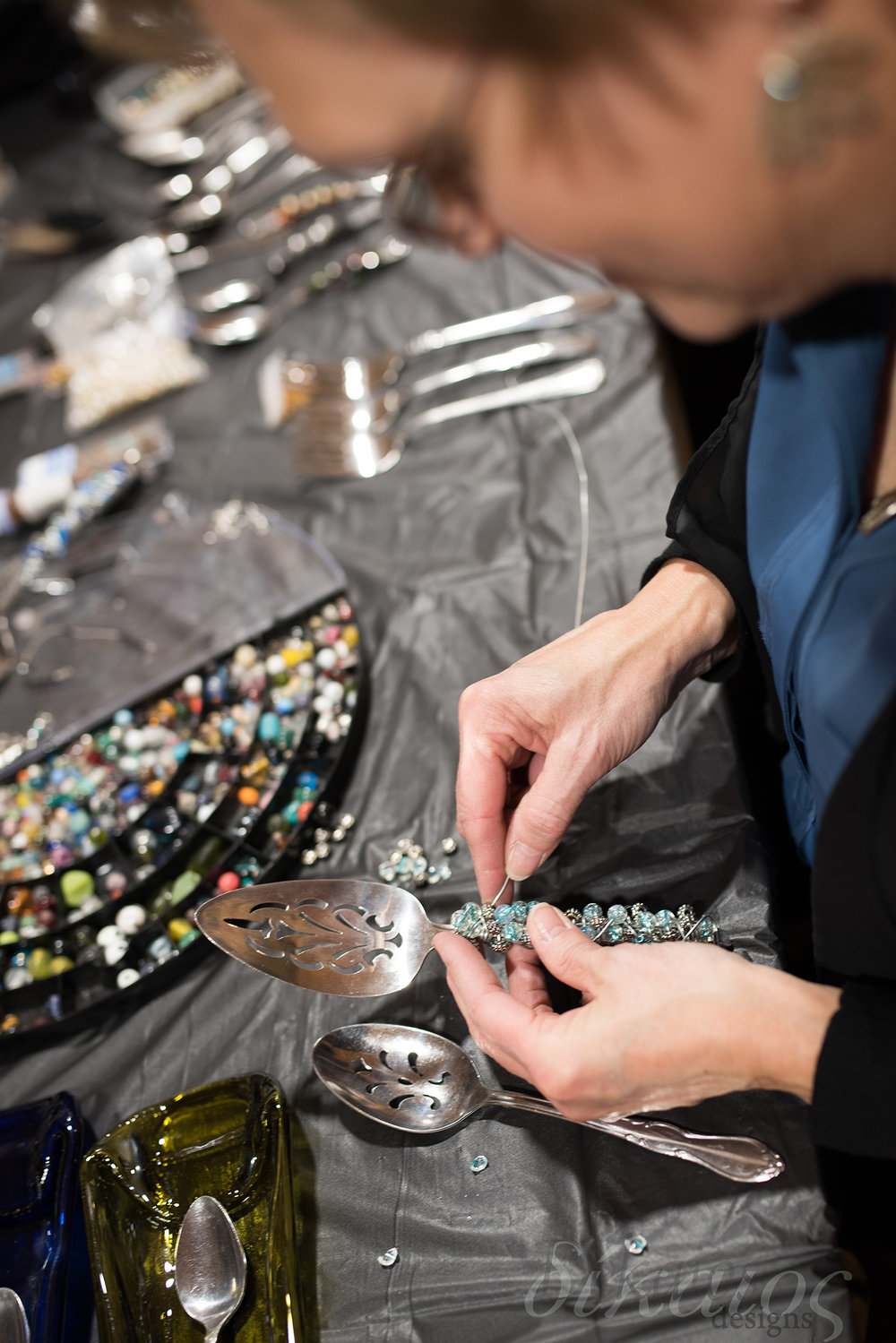 January is the perfect time for classes, we had a great time with this beading class at Judah Studios.
