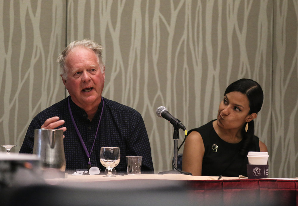 Citizen Leader Rod Morrison (left), and Jasmine Gomez of Free Speech for People (right)