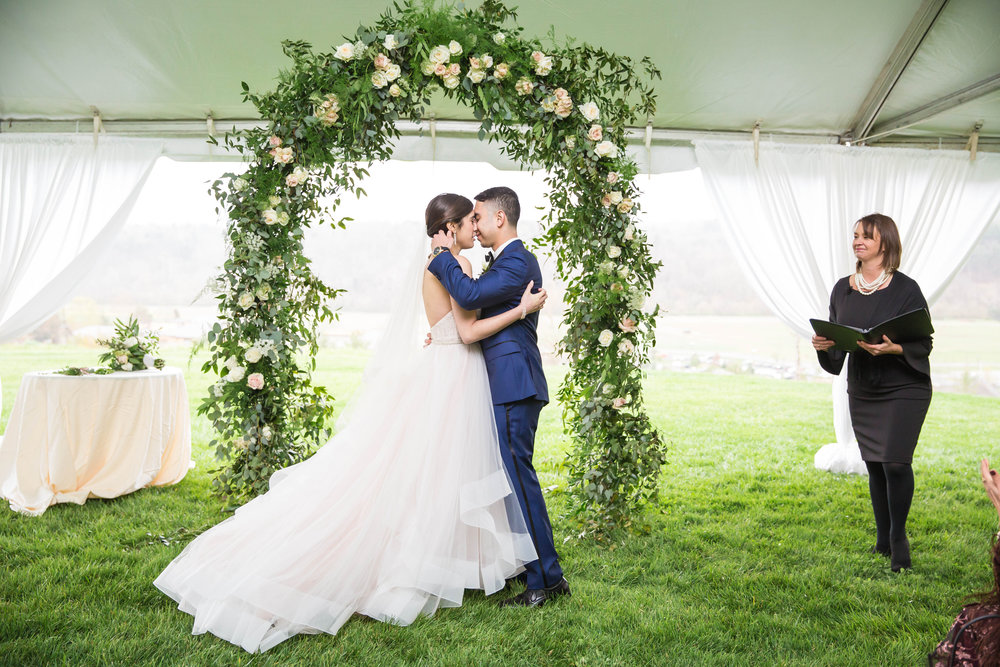 Our first kiss as husband & wife!
