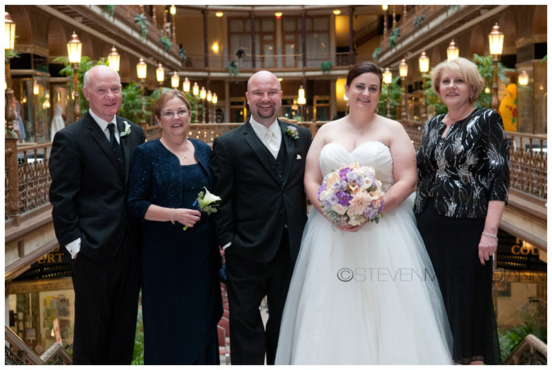 Hyatt-Arcade cleveland wedding photo