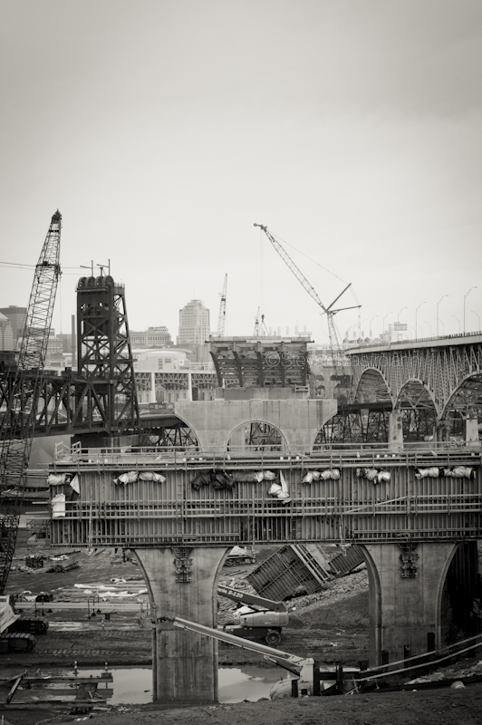 new innerbelt construction cleveland