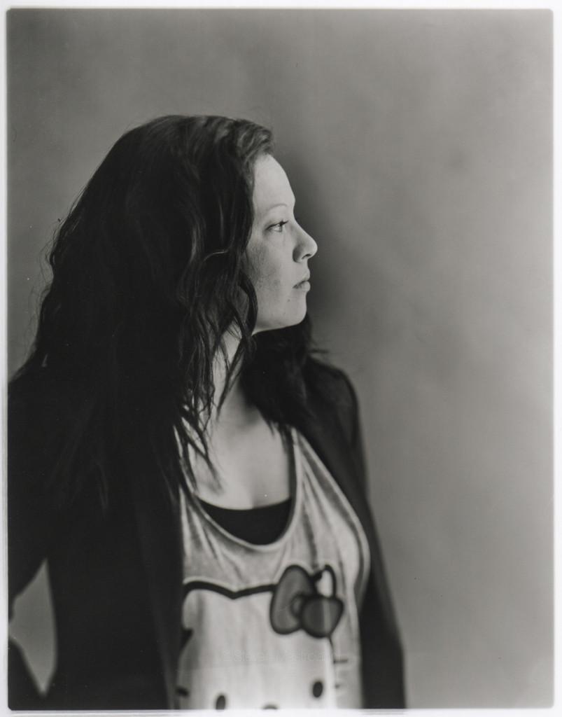 dark silver portrait