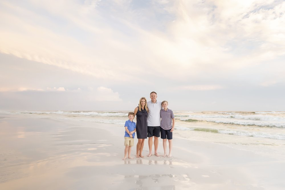 vacation beach portrait session in Destin Florida