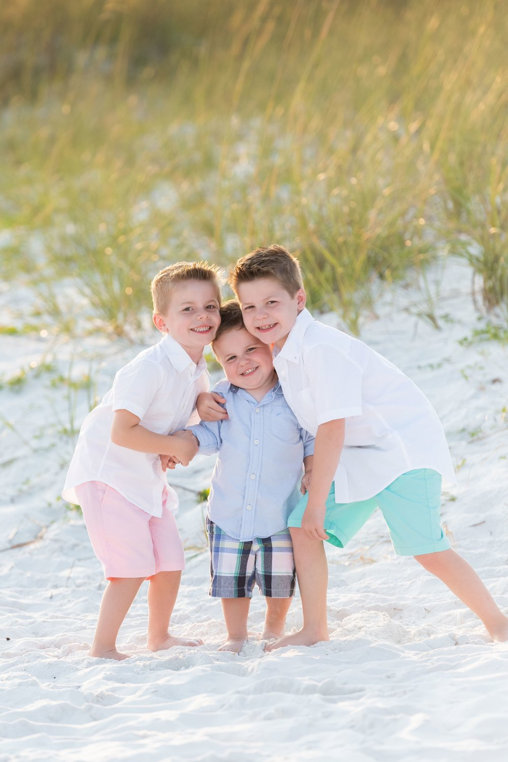 children play during destin beach session