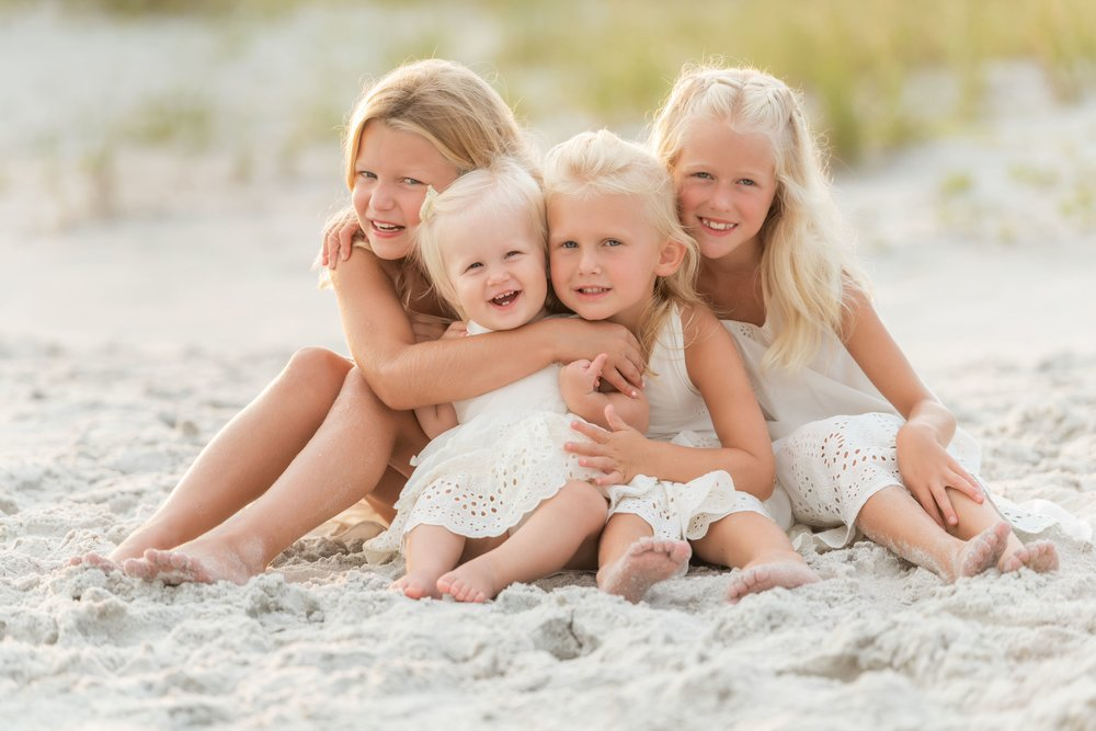 pensacola beach photographer session of girls playing