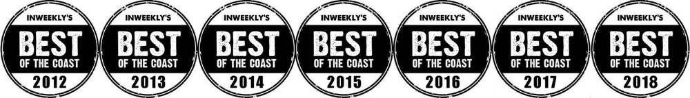 Pensacola Best of the Coast Photography Award Badges