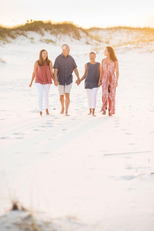 perdido key photographer images of family walking on beach