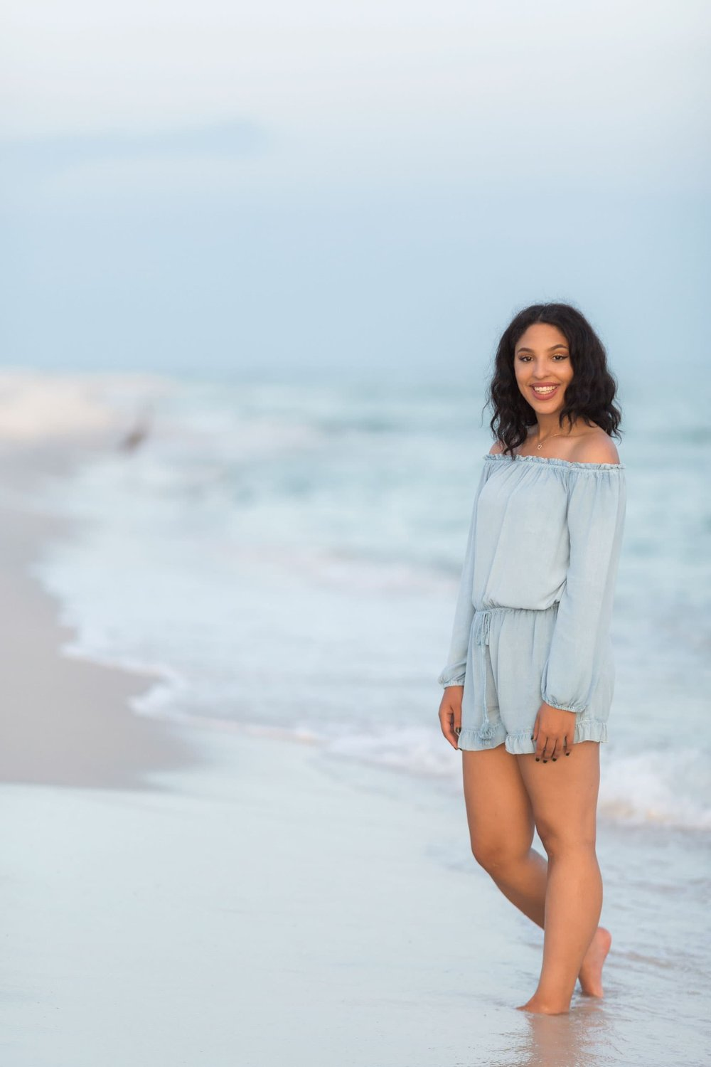 Copy of photography session of high school graduate at pensacola beach