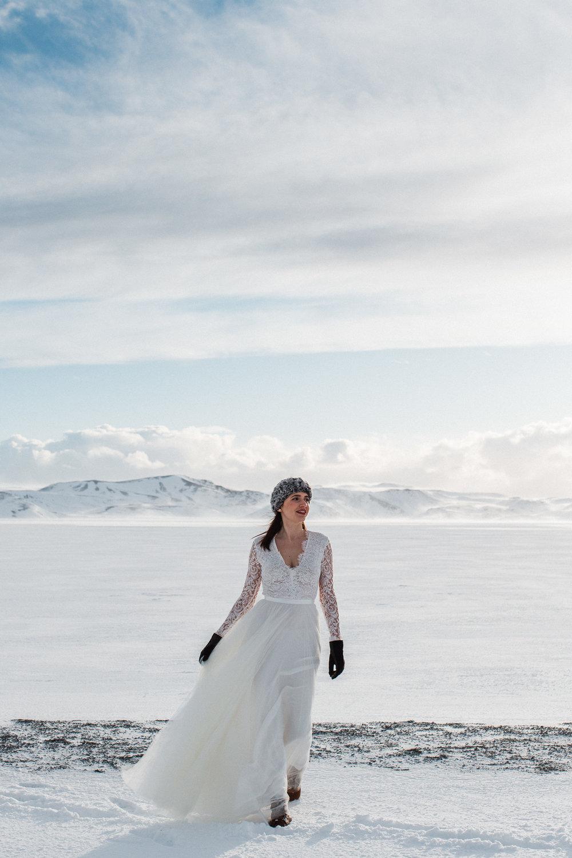 Icelandic winter wedding