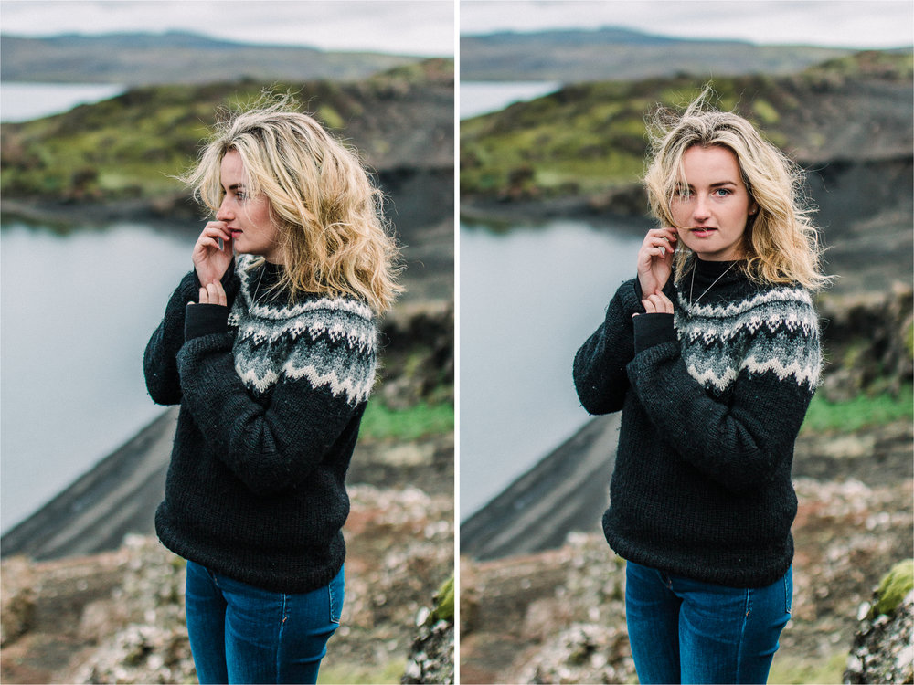 Portrait photography Iceland