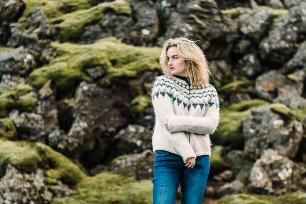 Solo traveller portrait shoot in Iceland