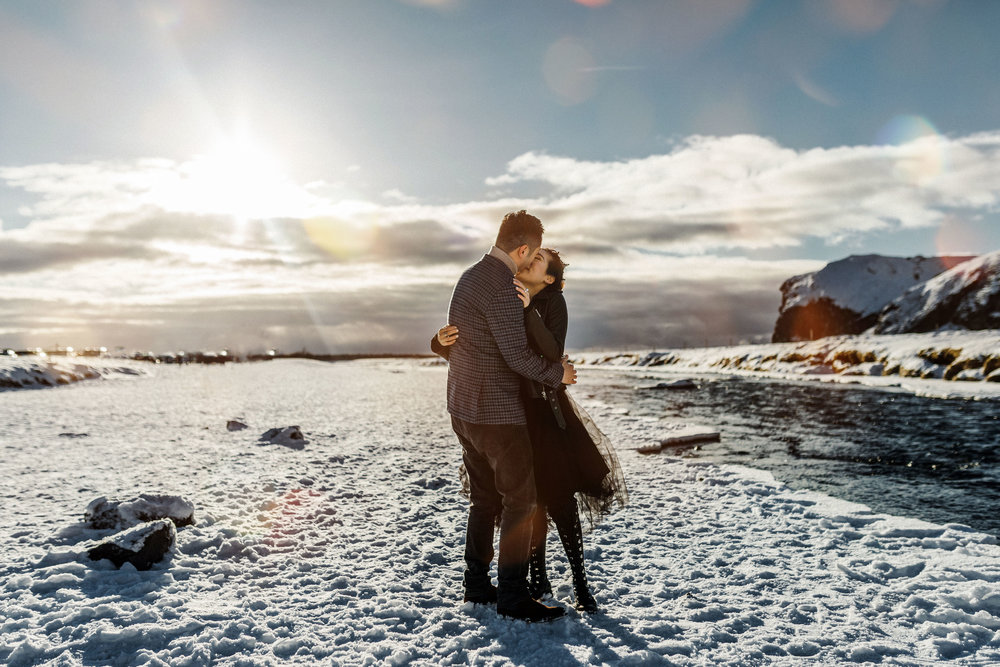 Iceland Elopement Photographer  Best Adventure Photoshoot