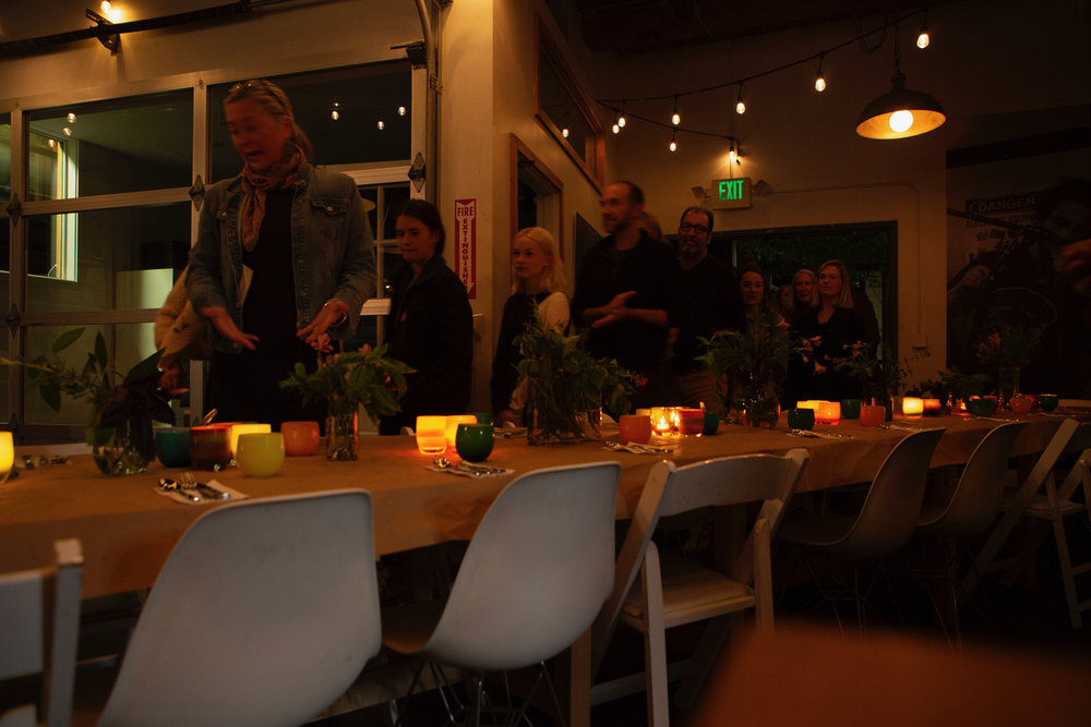 Some wonderful folks gathering for delicious dinner :)