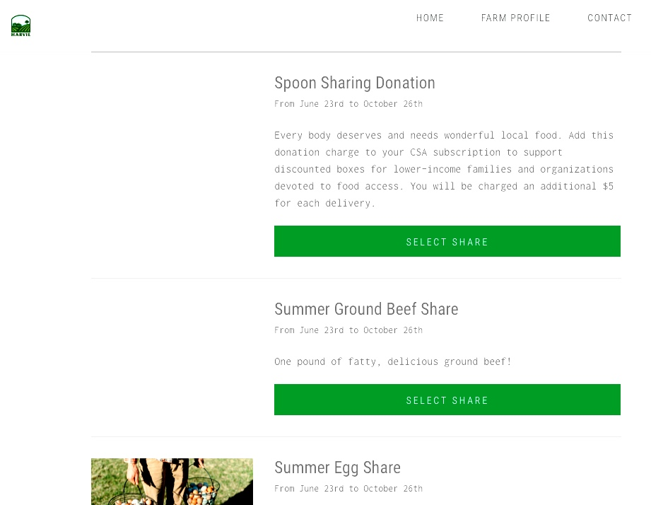 """Add a """"Spoon Sharing Donation"""" to your summer CSA order."""