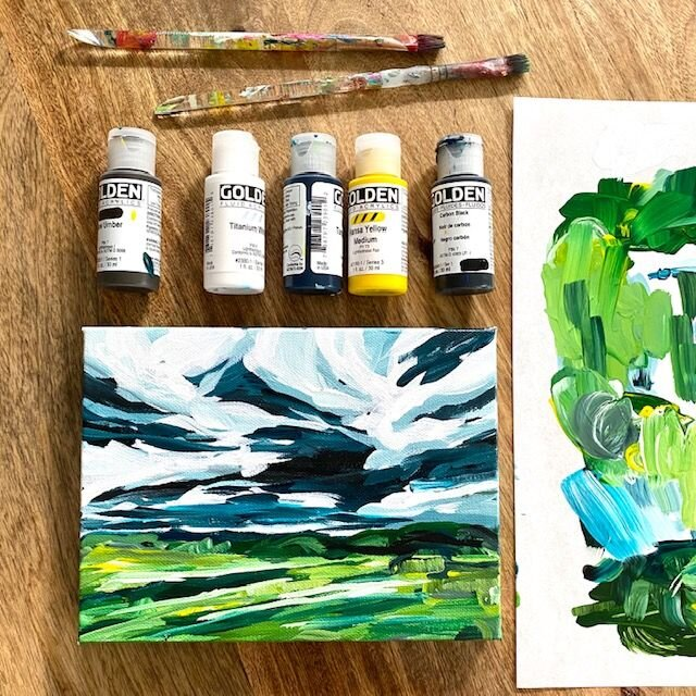 Acrylic Painting Tutorial For Beginners How To Paint A Landscape On Canvas With Step By Elle Byers Art