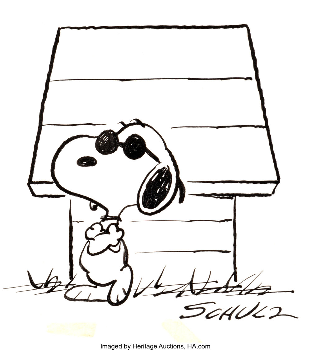 Joe Cool by Charles M. Schulz who was cooler than he probably ever knew.