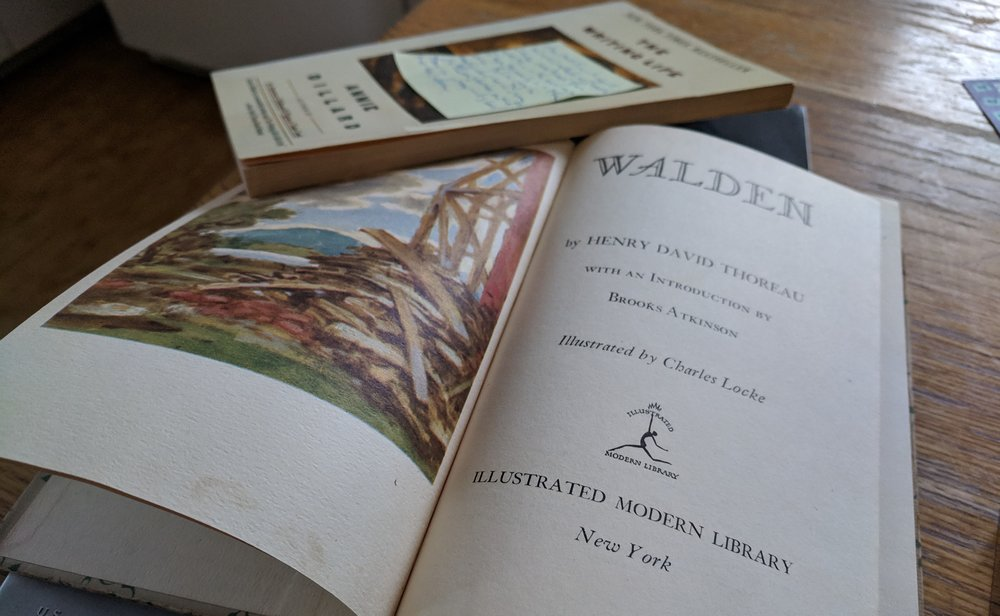 My old copy of Walden taken down briefly from my bedside table for its photo session