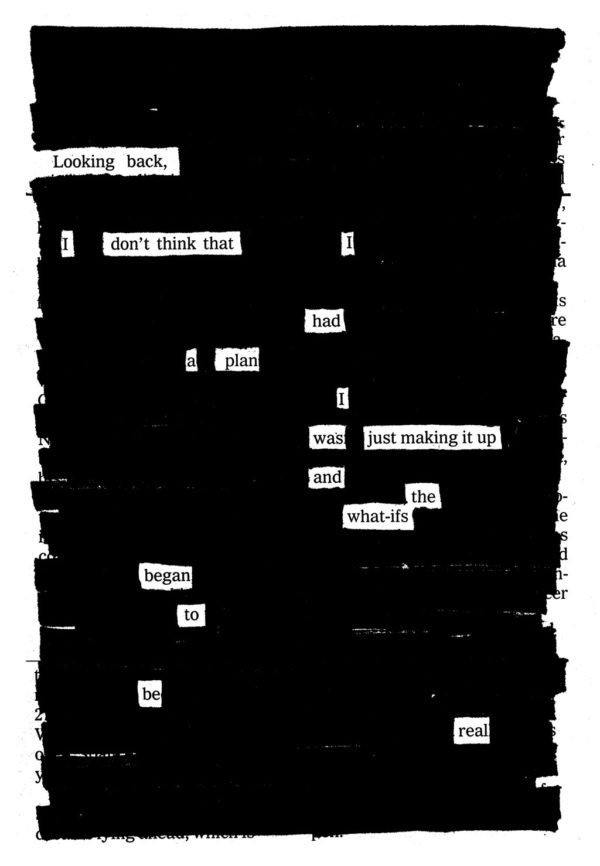Blackout poem by Austin Kleon.