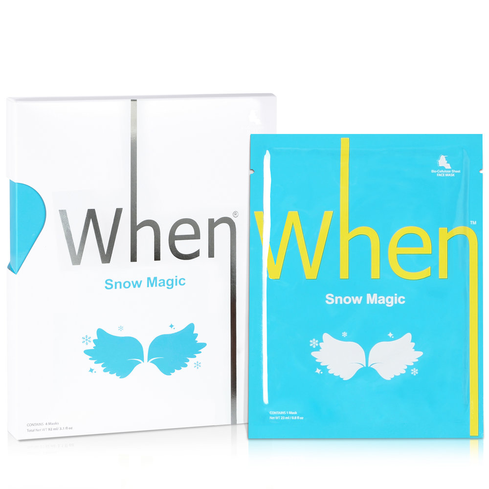 S now Magic (4 pack) Sheet Masks