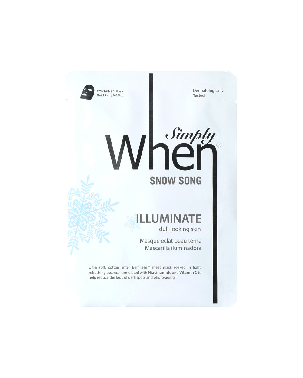 Snow Song sheet mask