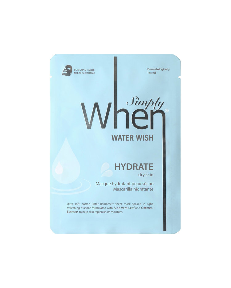 The Simply When Water Wish Hydrate Sheet Masks travel product recommended by Amanda Tropila on Pretty Progressive.