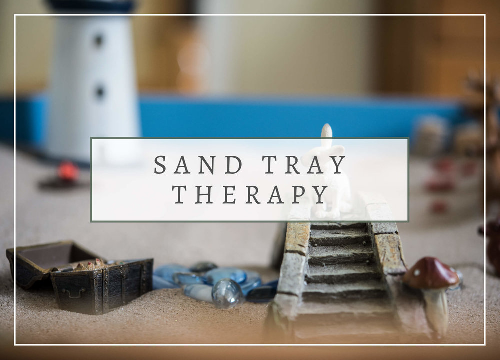 Lighthouse Expressive Therapy - Sand Tray Therapy Button
