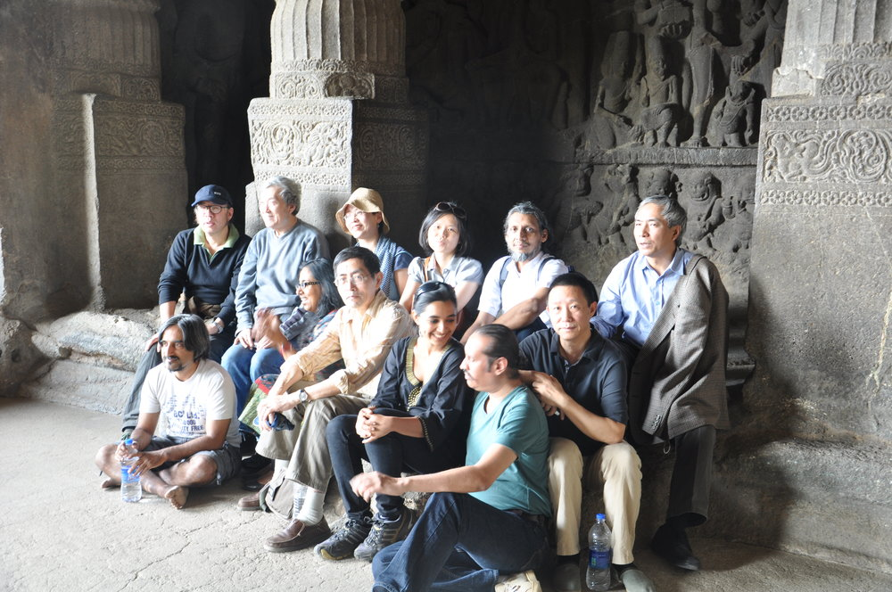 Chinese and Indian writers at Ellora (2011)