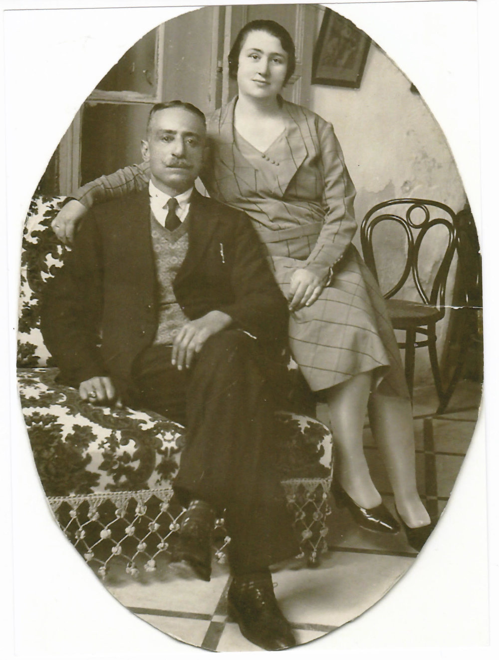 Naim and Aniseh Cotran. Acre, February 30, 1930, Family Papers