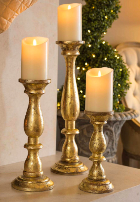 Antique Gold Candle Stands -