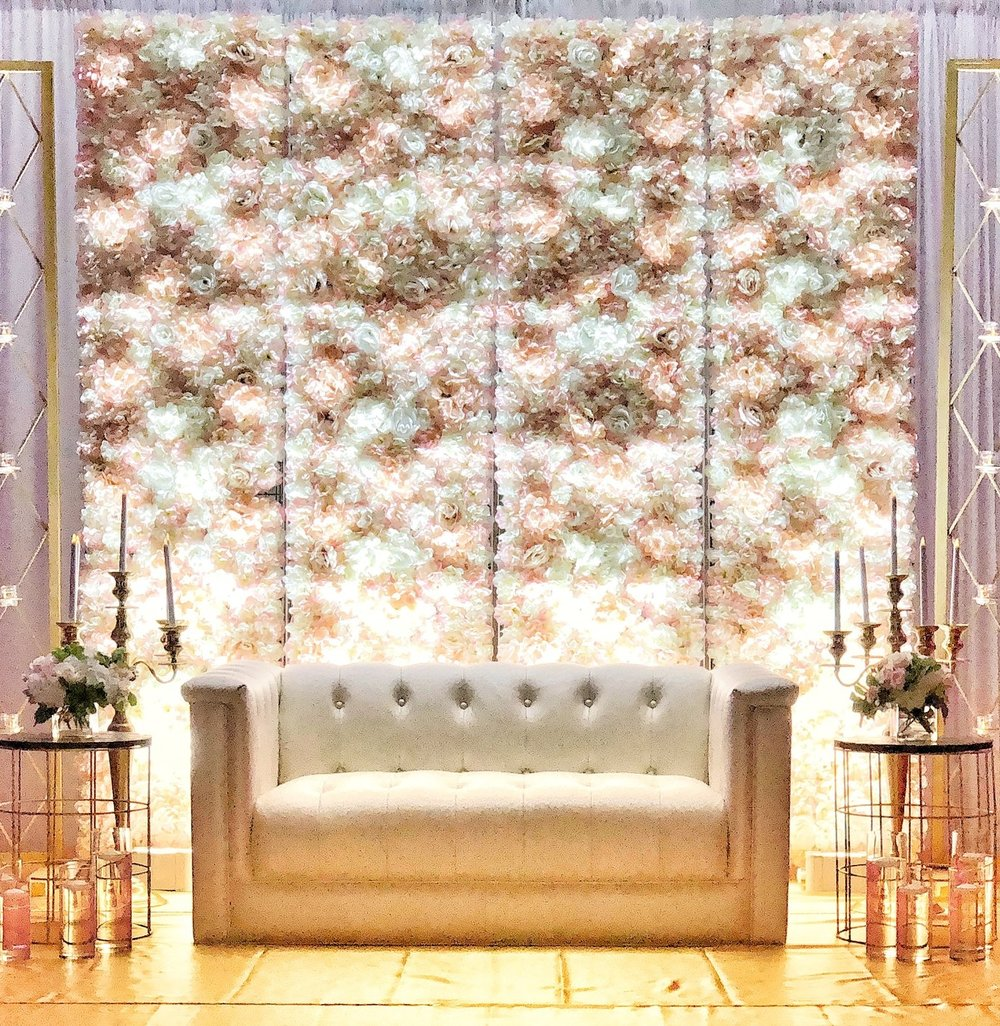 Silk Floral Wall