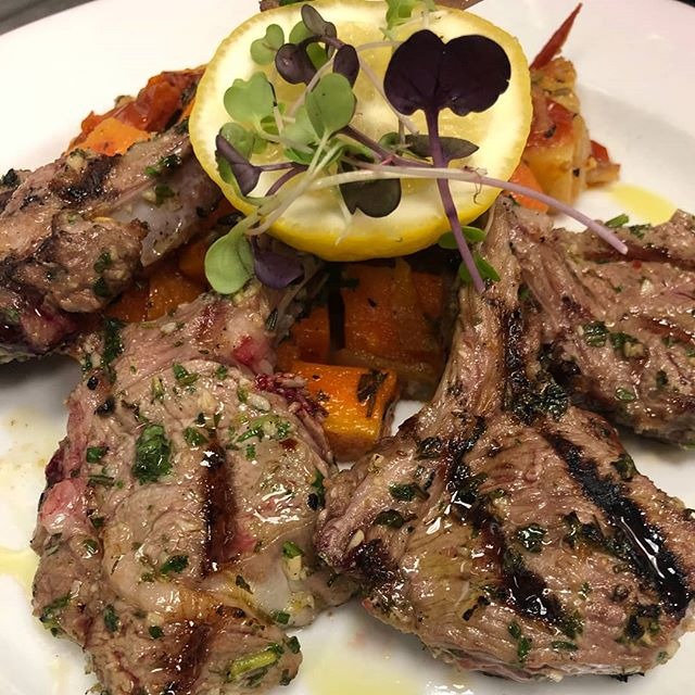 Come get our delicious Baby Rack of Lamb.