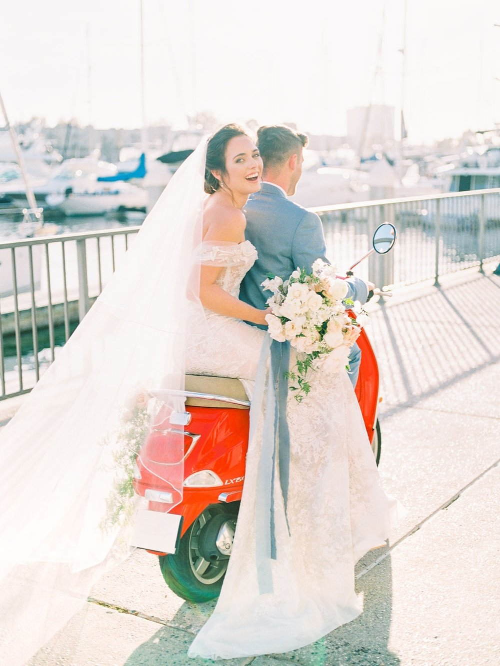 Style Me Pretty - Modern Amalfi Coast Wedding Inspiration at Ritz Carlton Marina del Rey