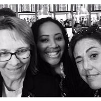 Cheryl Pawelsky, Lalah Hathaway, Claudia Brant 2017 Grammy Nominnees reception