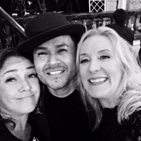 Claudia Brant, Frankie J, Umpg VP Alex Liutikoff BMI Latin Awards-Beverly Hills (April)